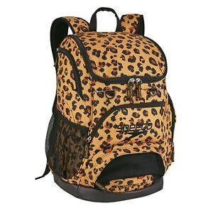 Speedo Printed Teamster Backpack 35L Leopard Cheetah Rare Swimming Bag NWT Gear