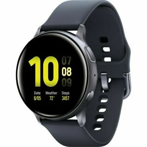 Samsung Galaxy Watch Active2 44mm Cassa di Alluminio Nera, Cinturino di Silicon…