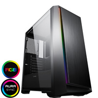 Game Max Saber LED Mid ATX PC Gaming Computer Case Tempered Glass Spectrum Strip