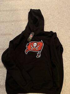 Mens Throwback Tampa Bay Buccaneers Hoodie Sweatshirt Large New!