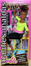 Barbie made to move amarillo top dhl83 fitness nuevo/en el embalaje original muñeca