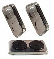 """2x NEW TOOLZONE MAGNETIC STAINLESS STEEL PARTS TRAY HOLDER 9""""x 5.5"""""""