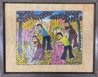 Camy Rocher MIXED MEDIA FINE ART HAITIAN MASTER Framed - VERY RARE