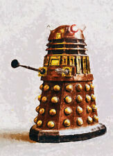 More details for dalek dr who artwork limited edition #1 of 50 canvas handpainted rare art print
