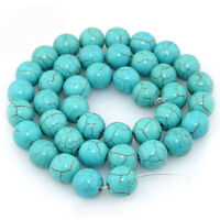 Lots 20/30/50/100Pcs Natural Turquoise Round Loose Spacer Beads Accessory 4-10mm