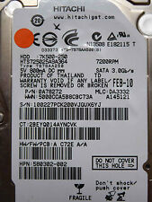 250 GB Hitachi HTS725025A9A364 / 0A78272 / DA3332 / FEB 2010 / 0A71428  DA3005