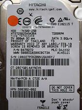 250 GB Hitachi HTS725025A9A364 / 0A78272 / DA3332 / FEB 2010 / 0A71428  DA3005