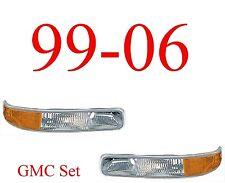 99 06 GMC Park Light Set, Assembly, Truck, Sierra, 1500, 2500, 3500, Both L&R