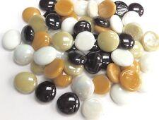 100 VETRO Sassi/Pepite/Sassi/le piastrelle a mosaico-CAFFE 'n Cream Mix di marmo