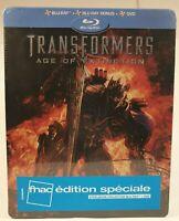Transformers: Age of Extinction  Steelbook (Blu-ray +Blu-ray bonus+dvd) Neuf