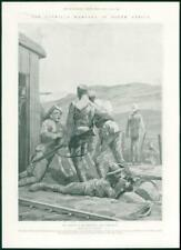 1901 Antique Print - AFRICA Guerilla Warfare Burg-Spruit Blockhouse  (326)