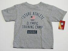 USA Olympics Team Training Camp Toddler Gray Flag Rings Shirt Future Athlete 3T