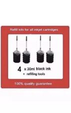 4x Refill kits for HP901XL,HP901 Black ink cartridges for HP Officejet 4680 4580