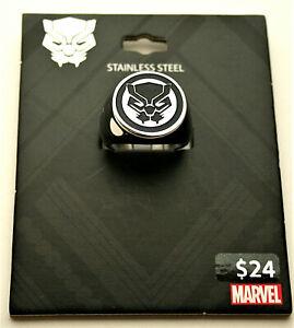 Marvel Comics Black Panther Avenger Stainless Steel Ring New Card sz 10
