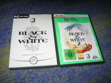 BLACK & WHITE PC 1 und 2 Kult Black and White Deutsch in Hüllen