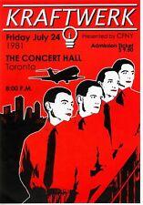 Kraftwerk 19 - Concert VINTAGE BAND POSTERS Music Rare Rock Blues Old Advert #ob