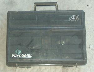 1988 Flambeau STAR FORCE 2 Section 30 Hole Fishing Tackle Lures Bait Hook Box GD