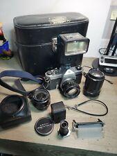 Camera PackagePENTAX Spotmatic SP with Super Takumar 50mm f1.4 Lens,135mm,28mm