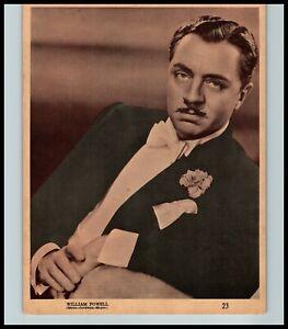 WILLIAM POWELL MGM HANDSOME HOLLYWOOD PORTRAIT SUSINI CIGAR 1940s ORIG PHOTO 460