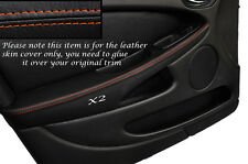 ORANGE STITCH 2X FRONT DOOR ARMREST SKIN COVERS FITS JAGUAR X TYPE 01-09