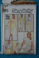 #7880 SIMPLICITY Sewing PATTERN Misses Skirt-Top-Pants-JACKET Size 16 UNUSED