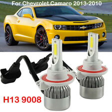 H13 9008 LED Headlight Kit Bulbs for Chevrolet Camaro 2013-2010 High Low Beam