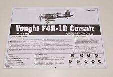 TRUMPETER F4U-1D CORSAIR 02221 PARTS *INSTRUCTION MANUAL* 1/32