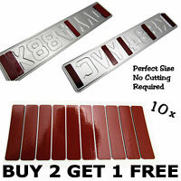 10 CAR NUMBER PLATES STICKY PADS REGISTRATION DOUBLE SIDED 90x20x2 mm STICKERS