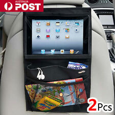 2x Car Auto Back Seat Organiser Travel Storage Bag with iPad Pocket Holder