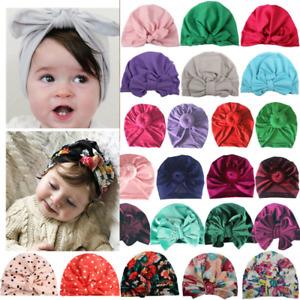 Newborn Toddler Baby Turban Hat Bowknot Head Wrap India Beanie Cap Boy Girl Gift