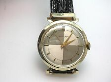 HAMILTON 748 RARE 14K GOLD VINTAGE 18J MAN'S WRIST WATCH RARE DIAL & CASE 34.3MM