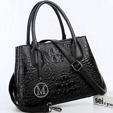 Lady's 100% Genuine Leather Crocodile Handbag Sling Satchel Tote Shoulder Bag