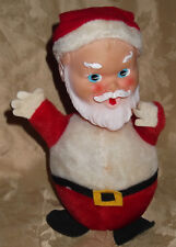 Antique SANTA CLAUS Roly-Poly Doll Christmas Decoration Vtg 1950 Gund Gunderful