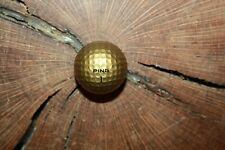VINTAGE SOLID GOLD PING GOLF BALL MUST SEE!!! MINT!!!