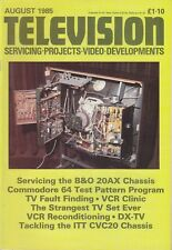 Television (servicing, projects, video developments) Magazine August 1985