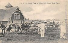 Brant Rock, Ma, Life Saving Crew At Beach Drill, Rotograph Pub used c 1907-09