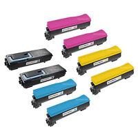 8 Pack TK-582K TK582 Black & Color Toner Cartridge for Kyocera Mita FS-C5150DN
