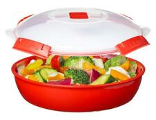 Sistema Round Microwave Dish With Lid, 1.3L, Red