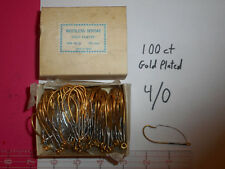 JAPANESE WEEDLESS 4/0 GOLD PLATED SPROAT HOOKS fishing 100 COUNT NEW OLD STOCK!!