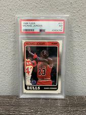 1988 Fleer Michael Jordan #17 PSA 7 NM Chicago Bulls HOF