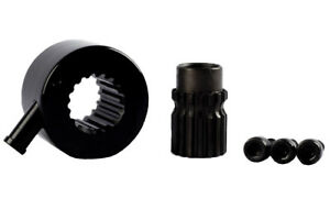 Splined Quick Release Steering Hub Black for Brisca F2 Autograss steering 3 Hole