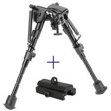 6- 9 Inches Tactical Rifle Bipod Adjustable Spring Return with Adapter