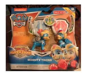 NEW release Nickelodeon Paw Patrol Mighty Pups Mighty Twins!! IN HAND!!!