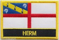Herm Channel Islands Flag Embroidered Patch Badge - Sew or Iron on
