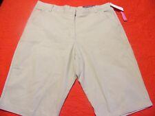 Girls Nautica $32 Khaki Skinny Bermuda Uniform/Casual Shorts Plus Size 20.5