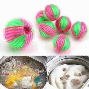 6pcs Reusable Laundry Washing Machine Balls Hair Lint Fluff Grabbing Home Remove