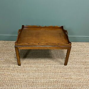 Edwardian Tray Top Antique Coffee Table