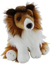 """*NEW SITTING BROWN WHITE COLLIE LASSIE DOG """"CHARLIE"""" PUPPY DOG PET SOFT TOY 30CM"""
