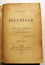 BENDA/BELPHEGOR/ESSAI SUR L ESTHETIQUE/ED EMILE PAUL FRERES/1918/EO/NUMEROTEE