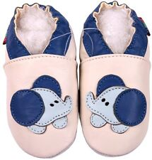 shoeszoo soft sole leather shoes cream baby elephant 18-24m S